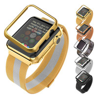 magnets for - Apple Watch Band MM MM with Protective Case Gold Black Gun Plated Milanese Loop Magnet Lock Stainless Steel Replacement iWatch Straps