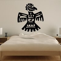 aztec decal - Vinyl Wall Decal Removable Hollow Out Aztec Parrot Wall Sticker Bedroom Headboard Home Decor
