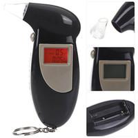 Wholesale Digital LCD Backlit Display Key Chain Alcohol Tester Alcohol Breath Analyzer Digital Breathalyzer with mouthpiece
