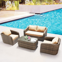 Wholesale High quality morden Environmental design PE rattan wicker sofa set wicker furniture Garden patio furniture outdoor furniture Rattan Sofa Set