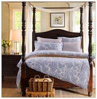 Wholesale SEV I007 Cotton Printing Bedding Sets duvet cover sheet pillowcases Designs for Choose