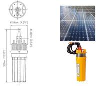 Solarbetriebene Tauch Water Farm-Pumpe, freies Verschiffen 24V Solar-Wasser-Pumpe Tauch DC 30M Hochdruck
