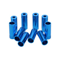 Wholesale 10X Aluminum Alloy MTB Mountain Bike Brake Cable End Tips Caps Crimps Bicycle Shifter Brake Line Wire Housing Ferrules MM