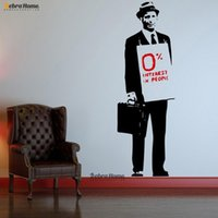 bedroom suits - 0 Interest In People Hat Suit Man Banksy Graffiti Vinyl Wall Sticker DIY Modern Art Murrals for Home Decor