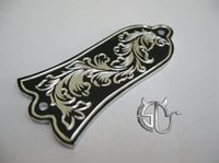 Wholesale retro classical pattern handmade aluminum truss rock cover for g i b s o n electric guitar
