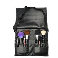 artists covers - Protable Cosmetic Makeup Brush Pu Bag Artist Belt Strap black color Professional Make up Bag Holder