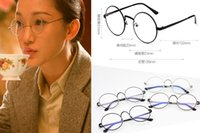 Wholesale New Arrivals Men Women Retro Glasses Eyewear Resin Lens Big Round Metal Frame Vintage Without Retail Packages