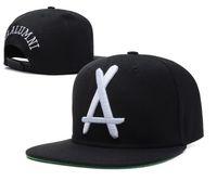 Wholesale Tha Alumni Snapback big white A Adjustable hats Cheap men s and women sports baseball caps Flat Brim Hip Hop Cap