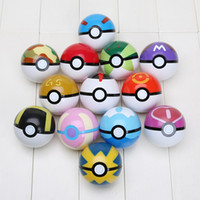 ball sets - 13pcs set cm Cosplay New Pokeball Master Great Playset action figures Pop up Plastic Poke Ball Go Toy for kid toys