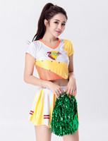 adult cheerleader uniform - pieces Sexy Fantasy Costume Cheerleader Costumes Adult Sport Uniform Fantasias De Festa Femininas Adulto Top Skirt