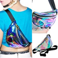 american fanny pack - 2016 Hot Rainbow transparent Bag Punk chic Hologram FANNY PACK Punk Bum Bag Purse