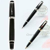 Wholesale High Quality Luxury Pens Black Resin Mon With Gem stationery school office supplies metal roller ball pen MB writing pen