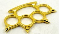 Wholesale 10pcs FREE SHIP MOLDED SPIKES BRASS KNUCKLE DUSTER GOLD