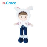 baby stuffed toy beauty - In Grace plush and stuffed dolls for baby girls dream sweet doll with plush rabbit hat living beauty dolls girls toy pink