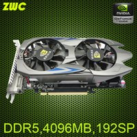 Wholesale NVIDIA chip G DDR5 GTX750TI Desktop computer graphics cards stream processors Double radiator