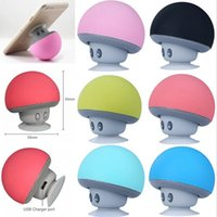 Wholesale 2016 Wireless Bluetooth Mini Speaker Mushroom Waterproof Silicon Suction Handfree Holder Stereo Music Player for Iphone s SE s Galaxys7