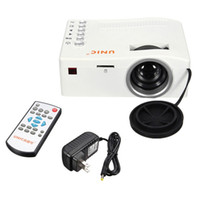 Wholesale UNIC UC18 MINI Portable LED Projector Support video Projector Multi language
