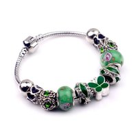 coupons - 2015 Best Quality Big Coupon Discount Women Jewelry Silver Plated DIY Characteristic Glass beads Bracelets PSL0028
