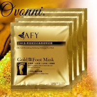 Wholesale 24K Gold Revitalizing Exfoliating Softening Foot Mask remove dead skin cuticles heel socks for pedicure