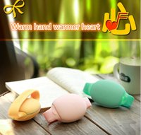 battery hand warmers - Lovely Couples Style Hand Warmer Last Warming Mini Size USB Rechargeable Hand Warmer with mAh Li Polymer Battery Power Bank
