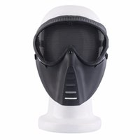airsoft gun goggles - New Airsoft BB Gun Paintball Mesh Face Goggle Full Face Protect Black Mask Skull Safety Guard For Outdoor CS Feild Game