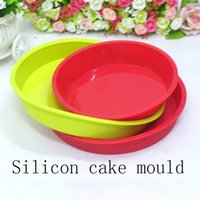 Wholesale Round silicon baking mould bakeware cake Pan silicone cake tray silicone rubber plate food grade silicone baking tray