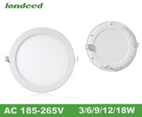 Wholesale 20pcs led ceiling panel light V w9w12w18w Ultra thin downlight led recessed round square retrofit lighting