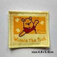 baby pooh characters - Winnie the pooh Cartoon Characters Patch Shirt Trousers Vest Coat Skirt Bag Kids Gift Baby Decoration