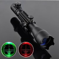 Wholesale 4 x50 Red Green Illuminated Reticle Riflescope with MM Rail Mounts for Hunting