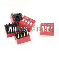 Wholesale Red mm Pitch Pins Positions Ways Slide Type DIP Switch