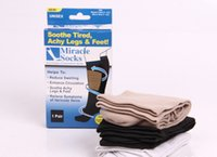 aching legs - Leg Shaper Unisex Compression Miracle Socks Relief for Aching Feet Varicose Veins DVT Flight Travel Pair Packing Box