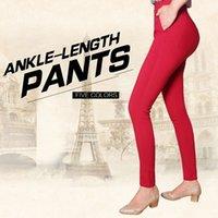 big capri pants - Factory outlets Capri pants Colored Stretch Fashion Female Candy Colored Pencil Women s Pants Sexy Elastic Cotton Jeans Pants big size