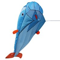 Wholesale One Set D Huge Soft Parafoil Giant Dolphin Kite Outdoor Fun Sport Kids Toy Gift Beach Holiday Dolphins Kites