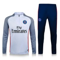 american soccer player - 16 Paris Printing White Player Version Football Soccer Tracksuits PSG tracksuits survetements Player Men s clothing new
