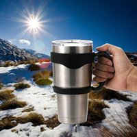 Wholesale 2016 Hot Sell High Quality Outdoor Travel Portable Double Wall Car Cups Handle for Oz YETI Rambler Tumbler