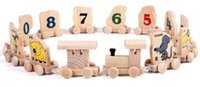 Wholesale Zodiac animal train Wooden toys early childhood literacy track Children s educational toys enhanced hands eyes brain coordination
