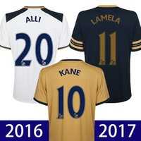 alli black - Top thailand quality home white soccer jersey way black football shirt SON KANE ALLI Camiseta LAMELA DEMBELE maillot de foot