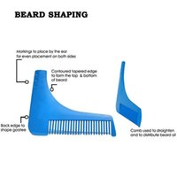 plastic hair comb - Beard Bro Beard Shaping Shaving Brush Gentleman Beard Trim Template Hair Cut Hair Comb Trim Template Beard Modelling Tools