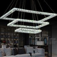 beautiful study rooms - New Led K9 Crystal Chandelier Light Fixture Rectangle LED Pendant lamp With Beautiful K9 Crystal Guaranteed Light Fixture AC110V V