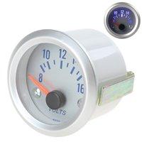 Wholesale 8 V Blue Light Auto Car Voltmeter Gauge Voltage Volt Meter