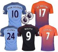 Wholesale Manchester City jerseys Top quality KUN AGUERO DE BRUYNE STERLING SILVA TOURE YAYA shirts