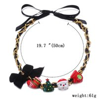 beautiful commodities - Hot Fashion and popular necklace for Christmas holiday snowman Yiwu small commodity European and American beautiful accessory