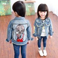 Wholesale 2016 fashion baby girl denim clothing child jean jacket girls jacket coat tops