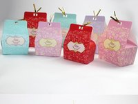 Wholesale OUR LOVE STORY Wedding Favour Favor Sweet Cake Gift Candy Boxes Bags Anniversary Party