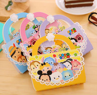 Wholesale Novelty Handbag Shape Tsum CartoonHard Cover Coil Book Portable Pocket Notebook Diary Notepad Escolar Papelaria