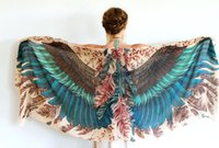 Wholesale 2016 New Wings Scarf Unique Fashion Printed Wings Chiffon Wings Beach Sunblocking Scarf