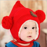 baby caddy - new Korean version of the fall and winter hat infants and children hat baby cute winter hat bonnet men and women double caddy