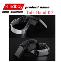 Wholesale Talk Band K2 Smart Bracelet Bluetooth Smart Wristbands smart watch Waterproof Passometer Sleep Tracker Function for android ios TW64