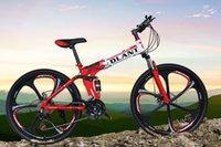 achat en gros de mountain bicycle-DLANT Land Rover Vélos pliants Six rayons 26 pouces 21 vitesses VTT Suspension Man Vélo 26