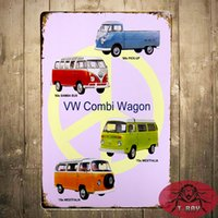 antique wagons - Metal Tin Signs quot VW Combi Wagon quot Bar Pub Garage Office Restaurant Bar iron Paintings